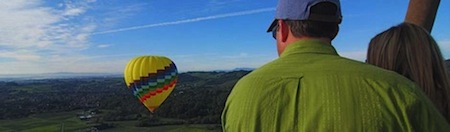 Hot Air Balloon Basket view