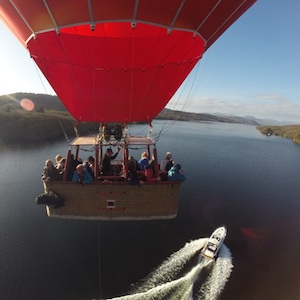 View from the Basket of a Lake Windermere Balloon Ride