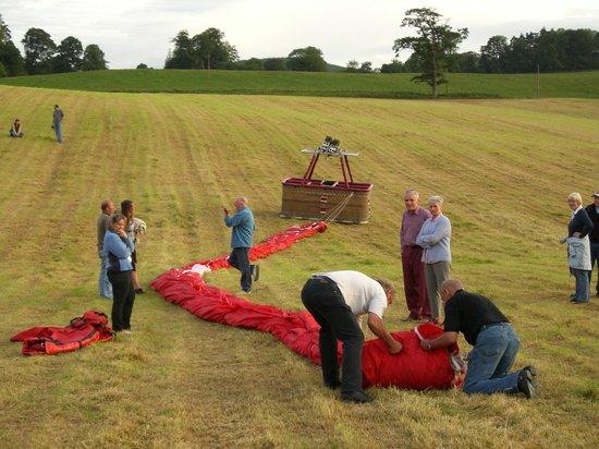 Glastonbury Balloon Landing